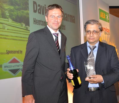 Salesperson of the Year - Davinder Sharma, Henton & Chattell Ltd