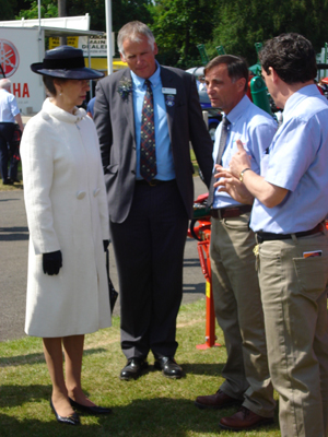 Alan Jones meets Princess Anne at an industry event